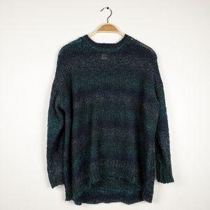 Denim & Supply RL • Blue & Green Open Knit Sweater